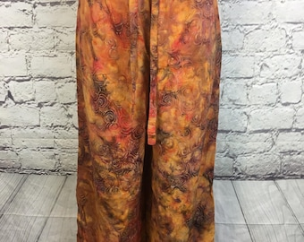 Orange Swirl Hippy Flow Pants