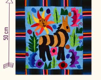 Mexican Cushion cover / Funda artesanal mexicana para cojin