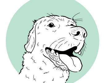 Custom pet illustration. Digital pet illustration.  Digital line drawing of your dog, cat or pet.