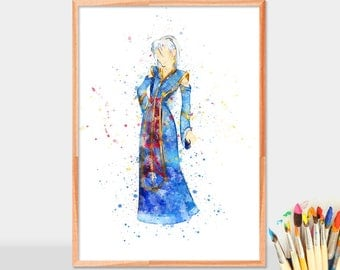 Princess Kida, Princess Kida Poster,  Atlantis The Lost Empire, Baby Girl Nursery Art, Watercolor Art, Wall Decor,  Kida