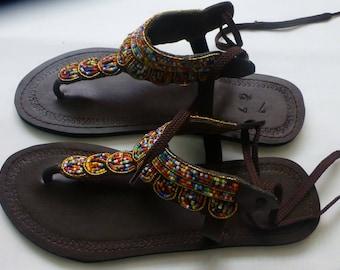 Masai beaded sandals