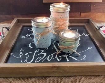 SALE!!!! Mothers day sale 3 set jar candle holders was 20 now 16 order in any color... SALE!!!