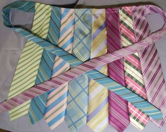 PINK Half Apron Made from Neckties.....Birthday Tea Parties Dinner or All Occasion Must Have for any Host or hostess