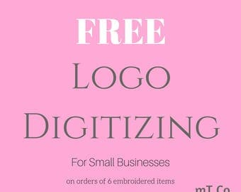 Free Logo Design and Digitizing with Apparel Order
