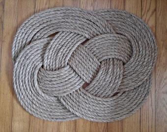 Traditionally Crafted Sailor Mat- Carrick Bend