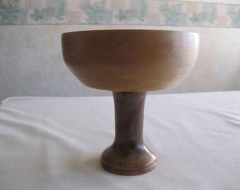 Wooden Pedestal Dish