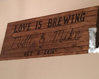 Customized Wood Burning Signs