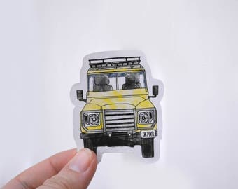 Yellow Rover - sticker