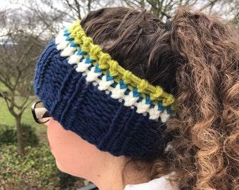 Blue and Lime Headband