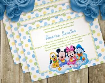 Disney Babies - Boy or Girl - DIY Printable Digital Baby Shower Invitation