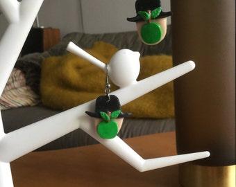 """""""Magritte"""" Fimo earrings"""