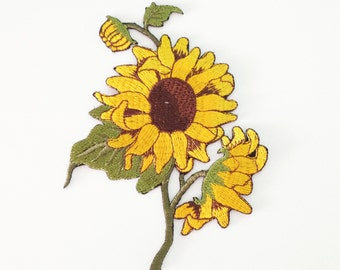 Sunflower patch Yellow sunflower iron on patch