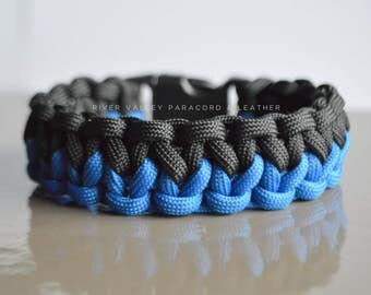 "Custom Color Two-Faced Solomon Paracord Bracelet with 5/8"" Side Release Buckle"