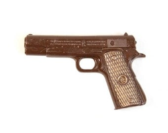 Chocolate Revolver Gun /Chocolate Candy/Handmade Cift/Business/Boys Chocolate/Mens Gift/Brother/Dad/Uncle