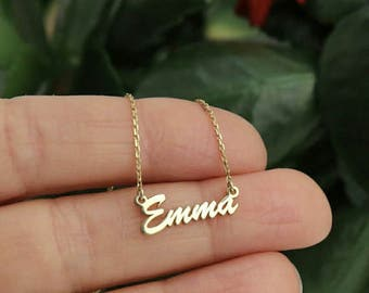 Name Necklace - Sterling Silver/ Rose Gold/ Gold Personalized Name Necklace
