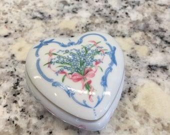 Small Porcelain Heart Box