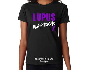 Lupus Awareness Women's Shirt - Lupus Warrior W/Lupus Ribbon Women's Topography Design