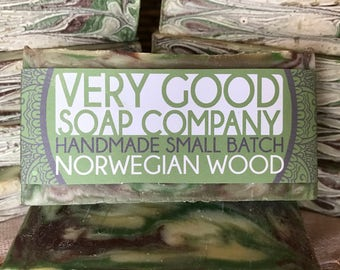 Norwegian Wood Patchouli Soap // Cold Process Soap // Handmade Soap // Vegan Soap