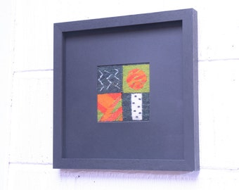 Framed Tapestry Abstract Composition