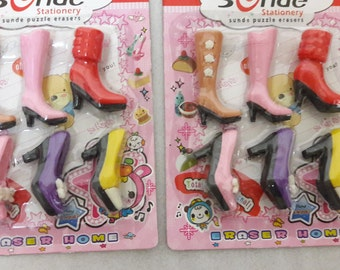 Boots / High heels / shoe Eraser/Rubber/ Party Favour / School / Kids/Novelty Stationery Gift