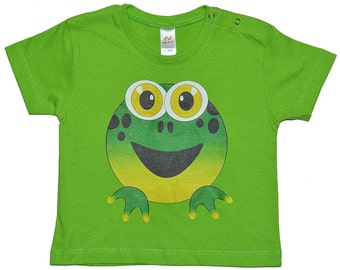 Frog on green Baby/toddler shirt, size 86.