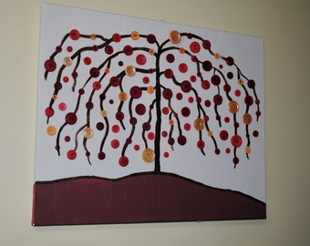 Button Tree Painting
