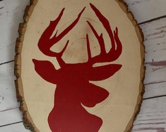 Deer nursery/bedroom sign, Deer head sign, Wood sign, Rustic deer sign, boy nursery decor, hunting sign, hunting decor