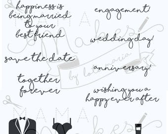 Mama Makes Stamps - Wedding Wishes - 15 Stamps