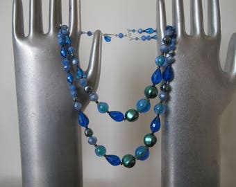 Vintage Beads - Shades of blue