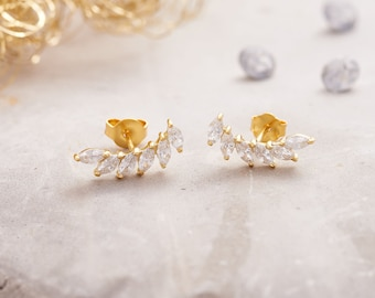 Crystal Paved Icarus Wing Ear Studs