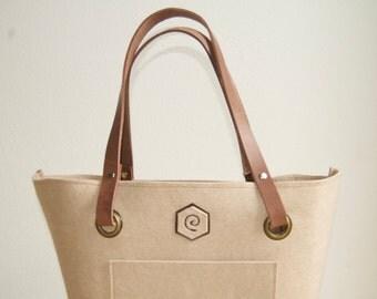 Felt bag of eBag beige adjustable
