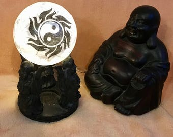 Ying Yang esoteric character Feng Shui night light table centerpieces table decorations