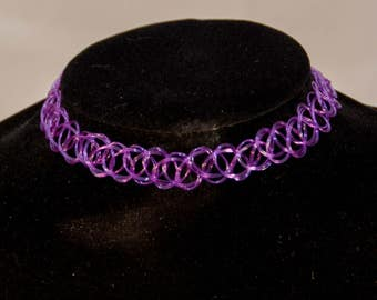 Tattoo Choker Purple
