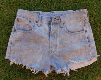 New Levis 501 denim cut off shorts