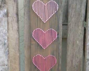 Pink Triple Hearts