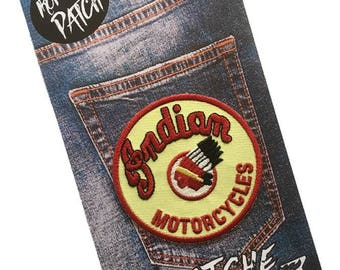 Indian Motorcycles Embroidered Iron On Patch