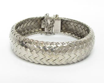 Unique 925 Sterling Silver Vintage Braided Bangle Bracelet - B001 (!!!OFFERS ACCEPTED!!!)