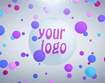 End screen video intro or outro, Logo from bubbles