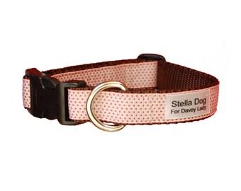 Pink Chocolate Micro Dot Collar *FREE SHIPPING*