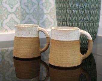 ceramic coffee mug stoneware tea cup pottery cup vintage ceramics