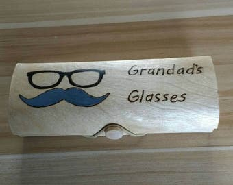 Grandads handcrafted bamboo glasses case