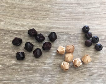 Small Wood Beads / Wood Beads / Hardware / Jewelry Supply / Jewelry Design / Brown Beads / Round Beads