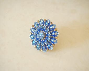 Blue statment ring