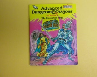 TSR Advanced Dungeons & Dragons The Treasure of Time Story Book 1983
