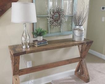 Rustic Entryway Table - Farmhouse Table