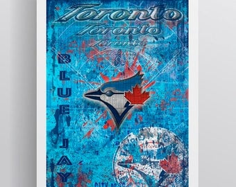 Toronto Blue Jays Layered Poster, Toronto Blue Jays Artwork, Blue Jays Gift for all occasions.