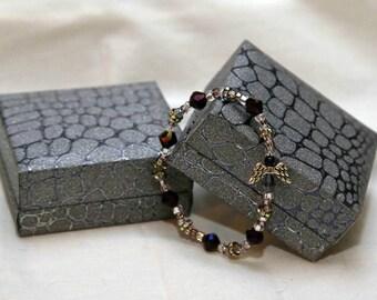 Purple Angel Handmade Protection Bracelet