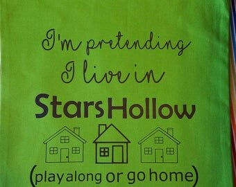 Stars Hollow Tote - Gilmore Girls Bag - Grocery Bag - Book Bag - Market tote