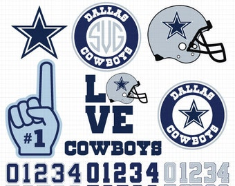 Dallas Cowboys- Cuttable Design Files(Svg, Eps,Dxf, Jpg) For Silhouette Studio, Cricut Design Space, Cutting Machines,Instant Download