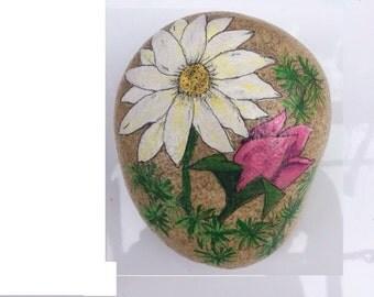 Daisy Tulip Painted rock